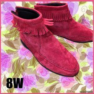 Shoes - Leather Fringe Moccasins